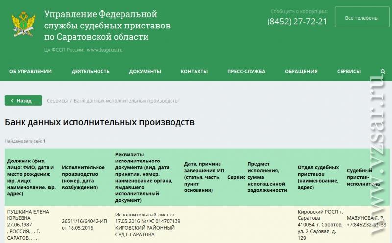 служба судебных приставов кировская область узнать задолженность уже сколько лет