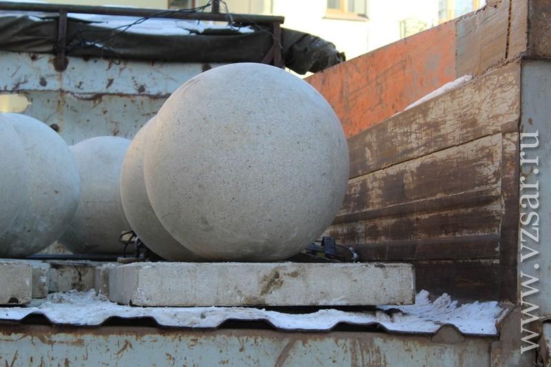 Как сделать бетонные шары 189