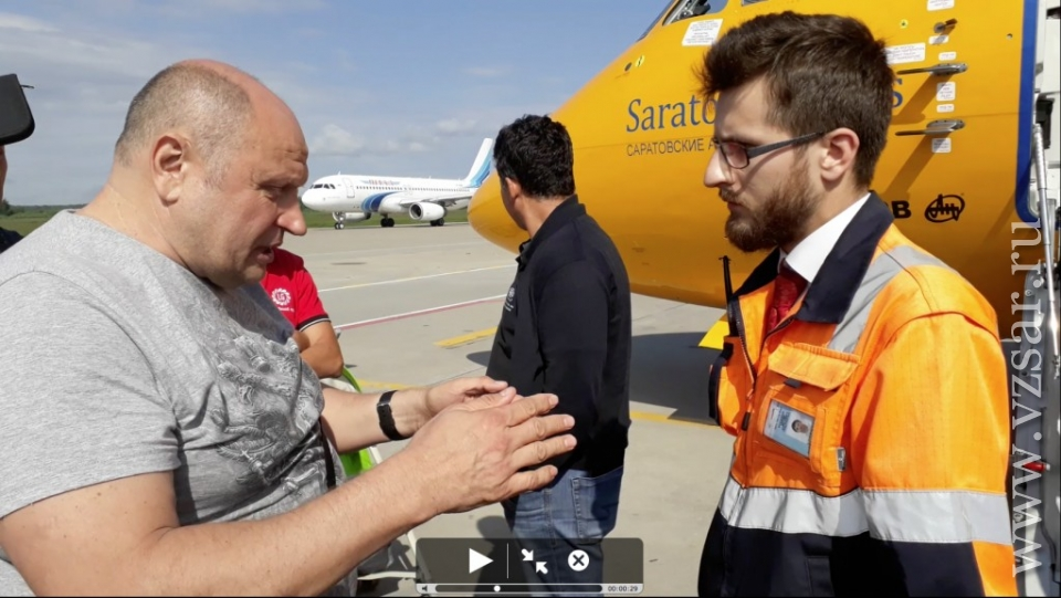 В «Домодедово» пензенцы оккупировали самолет