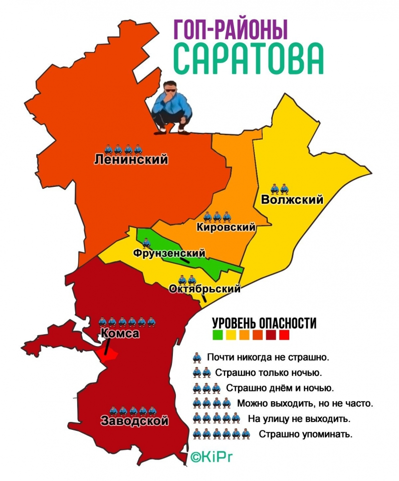 Районы саратова схема