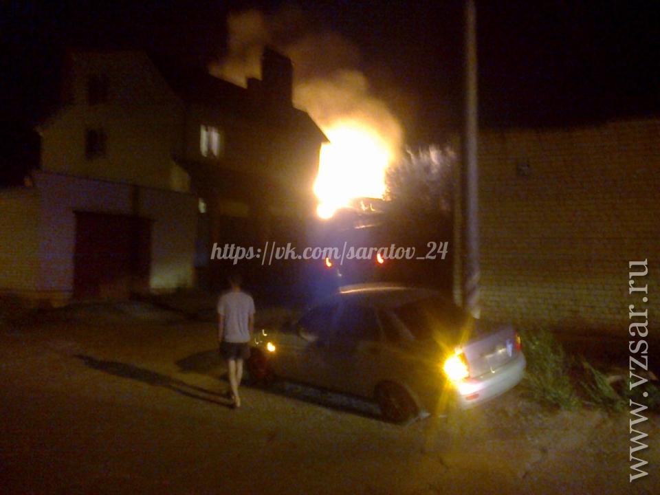 Сильный пожар вАгафоновке уничтожил несколько домов