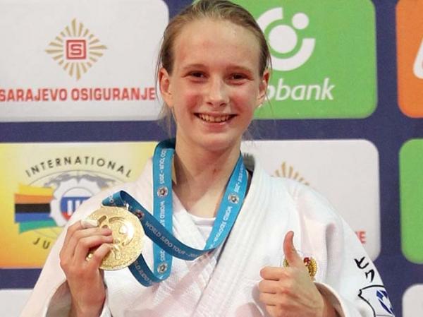 Золотая медаль наПервенстве Российской Федерации подзюдо