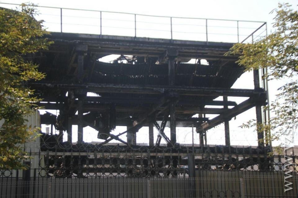 ВСаратове горела градирня назаводе: столб дыма было видно изЭнгельса