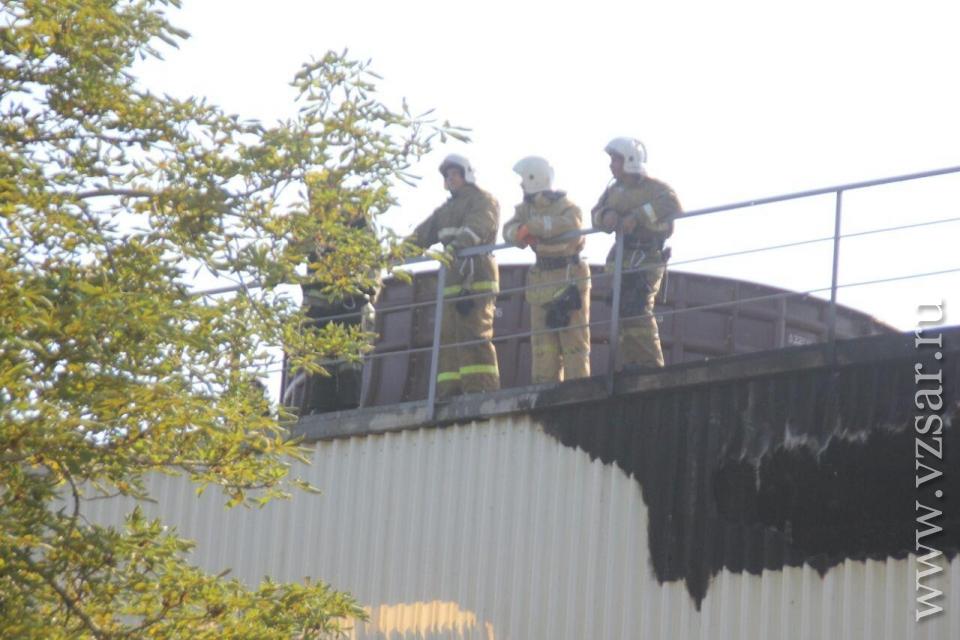 Натерритории завода «Корпус» произошел пожар