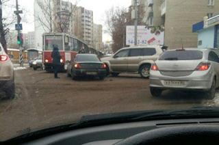 В районе Рахова-Советской из-за ДТП образовалась большая пробка