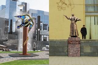 Интерактив. Читатели могут оценить эскизы памятников Киселеву и Руслановой
