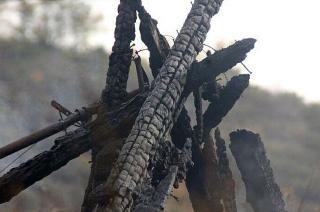В Балтае на пожаре погиб хозяин деревянного дома