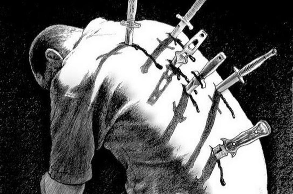 встретился фото спины с ножами были