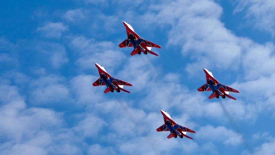Военно-воздушные силы Российской Федерации отмечают 105-летие содня основания