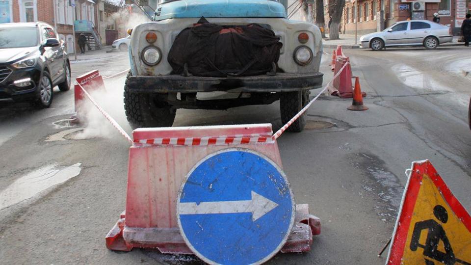 Движение для авто закрыто научастке Радищева из-за работ энергетиков