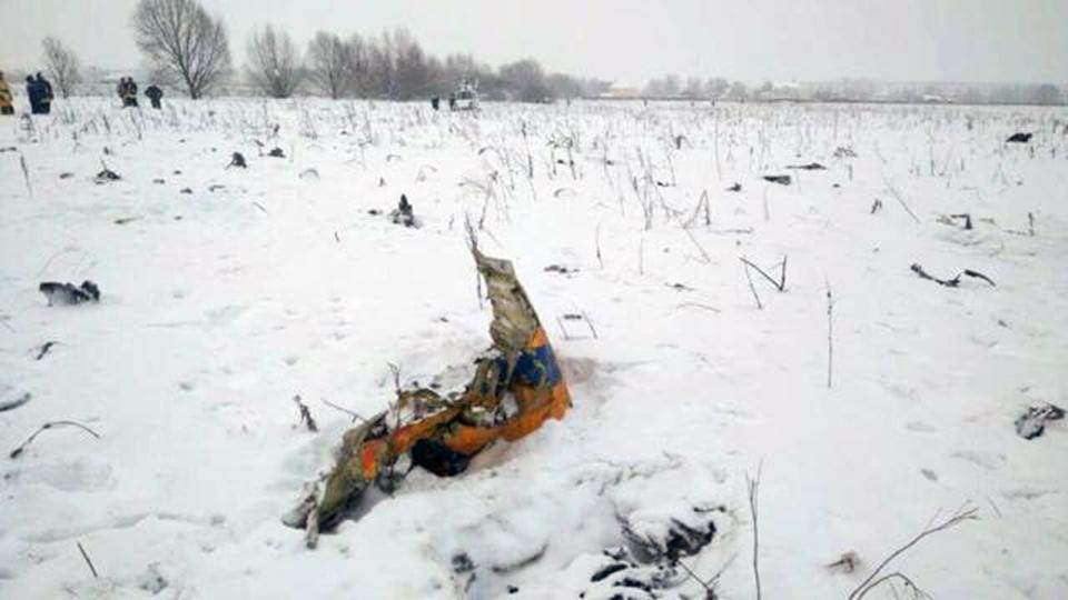 ВПодмосковье МЧС повторно обследует место крушения Ан-148
